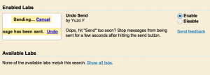 Undo Send - Gmail Tips