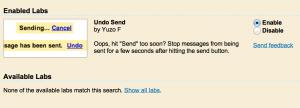 Undo Send - Gmail Tips