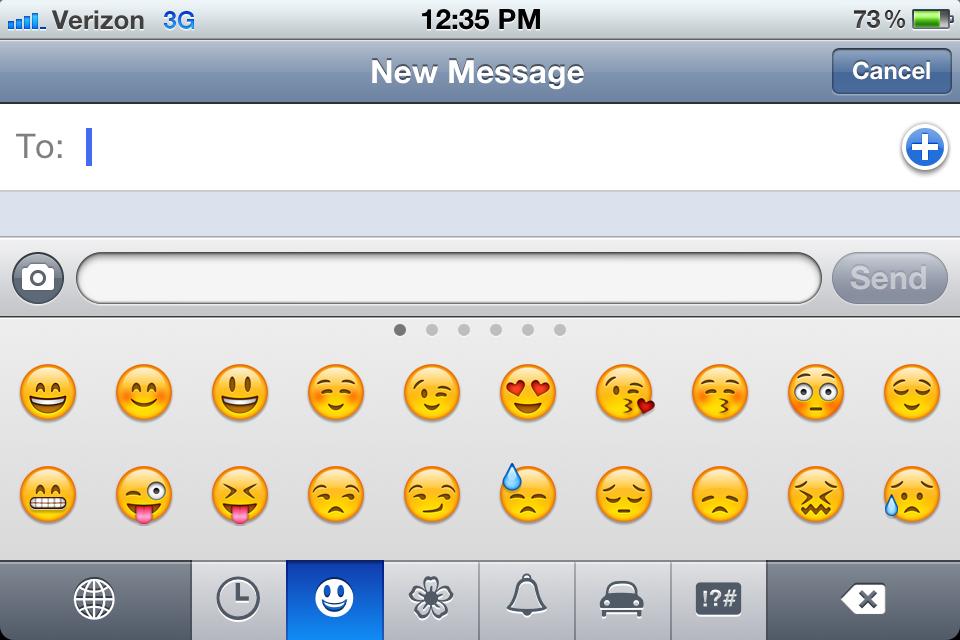 Get iPhone Emoji, no jailbreak or app required