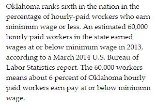 Oklahoma Minimum Wage